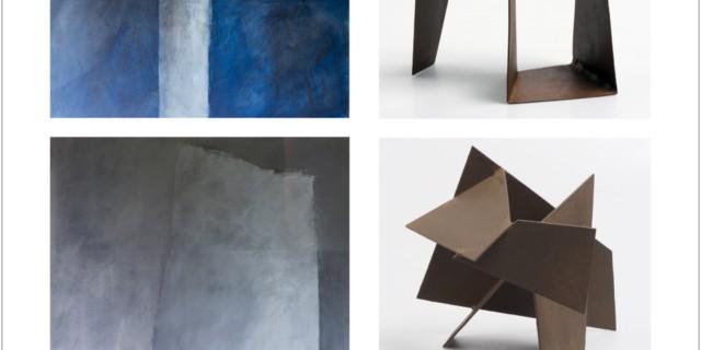 Exposition de peintures de Brigitte Fallon et de sculptures de Bob Van der Auwera