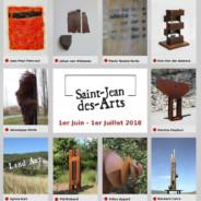 Du 1er  Juin au 1er Juillet 2018, Saint-Jean-des-Arts expose 10 artistes en intérieur et extérieur.